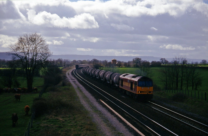 60017, 09.40 Burngullow-Newport Alexandra Dock Junction, 47/8, 09.10 Liverpool Lime Street-Plymouth, Cogload, 18-3-97.