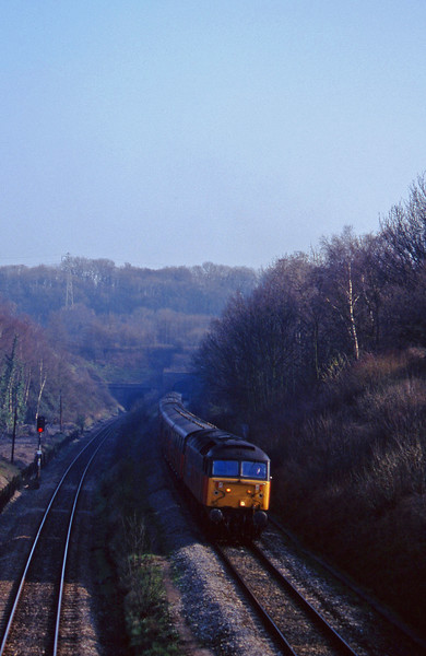 47732, 14.33 Bristol Temple Meads-Cardiff Central, Cattybrook, Bristol, 11-3-97.