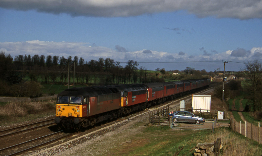 47764/47772, 12.15 Bristol Temple Meads-Plymouth, Cogload, 18-3-97.