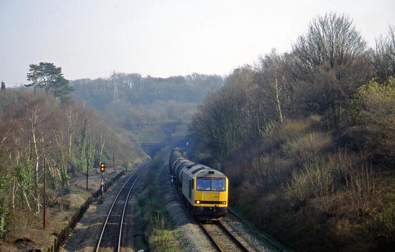 60009, 09.40 Burngullow-Newport Alexandra Dock Junction, Cattybrook, Bristol, 11-3-97.