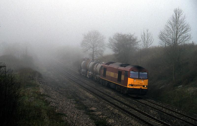 60041, 04.56 St Blazey-Newport Alexandra Dock Junction, Whiteball, 21-3-97.