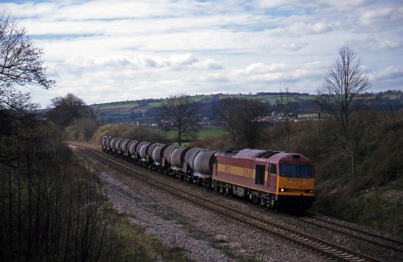 60012, 09.40 Burngullow-Newport Alexandra Dock Junction, Whiteball, 20-3-97.