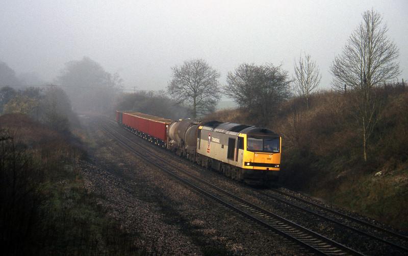 60082, 04.56 St Blazey-Newport Alexandra Dock Junction, Whiteball, 14-3-97.