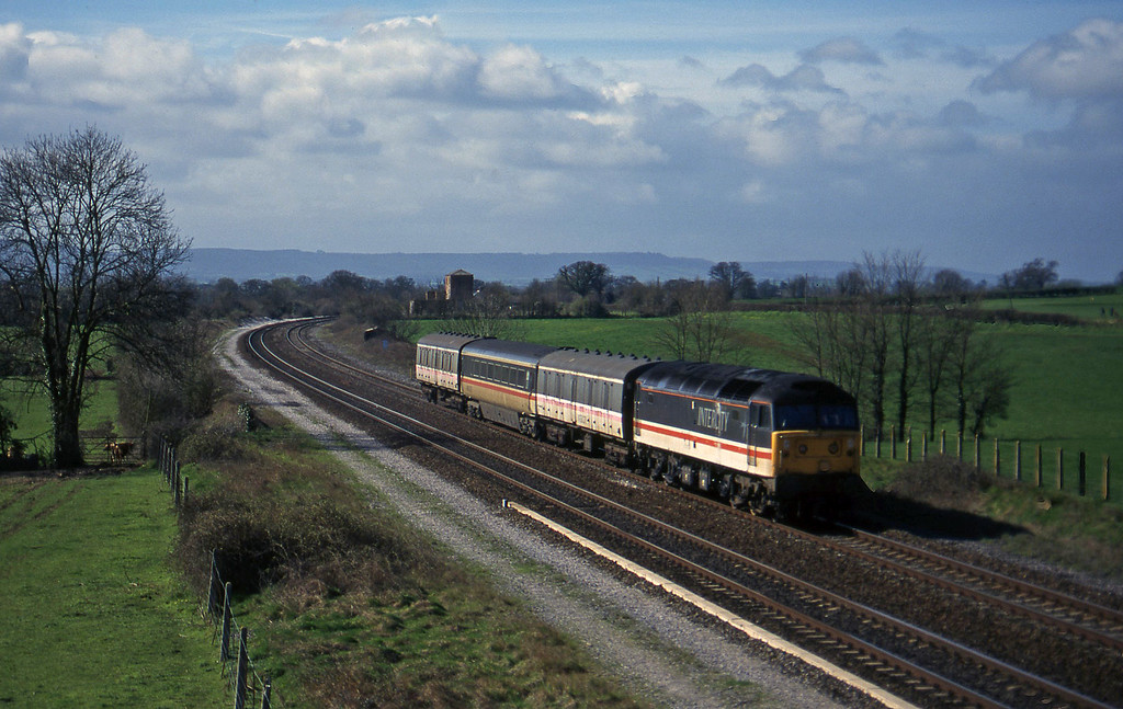47815, up stock move to Bristol line, Cogload, 19-3-97.