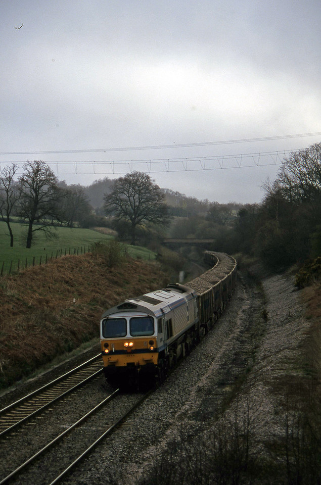 59004, down stone, Whiteball, 27-3-97.