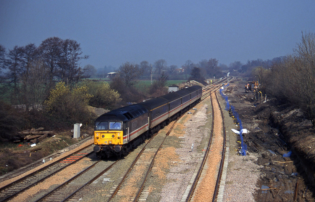 47806, 09.10 Liverpool Lime Street-Plymouth, Standish Junction, near Stroud, 11-3-97.