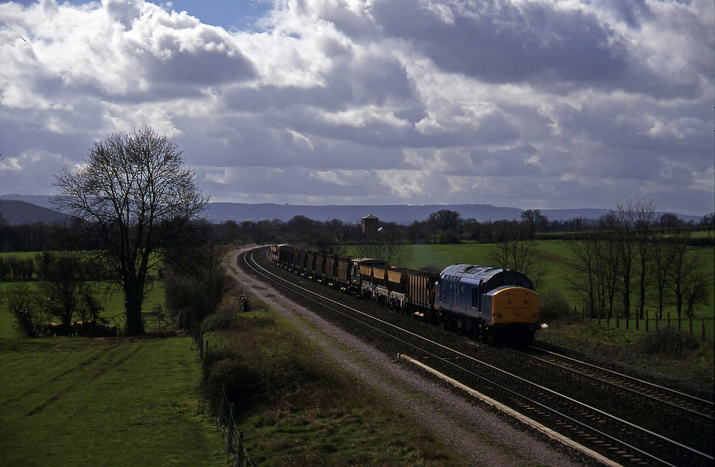 37375, up ballast empties, Cogload, 18-3-97.