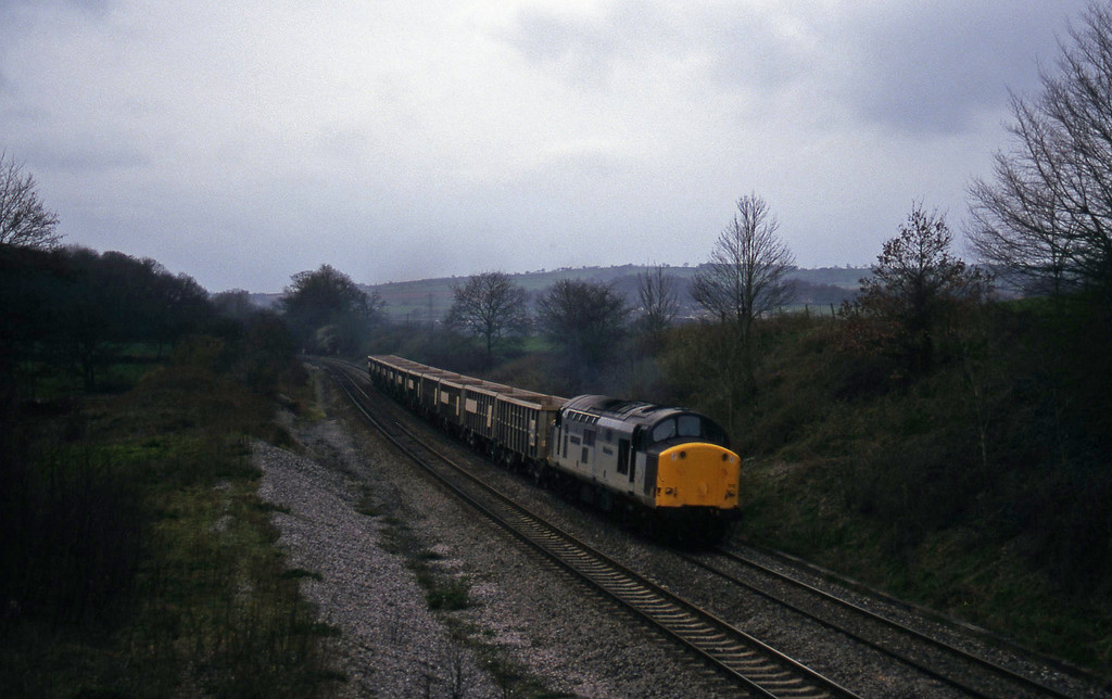 37715, up stone empties, Whiteball, 25-3-97.