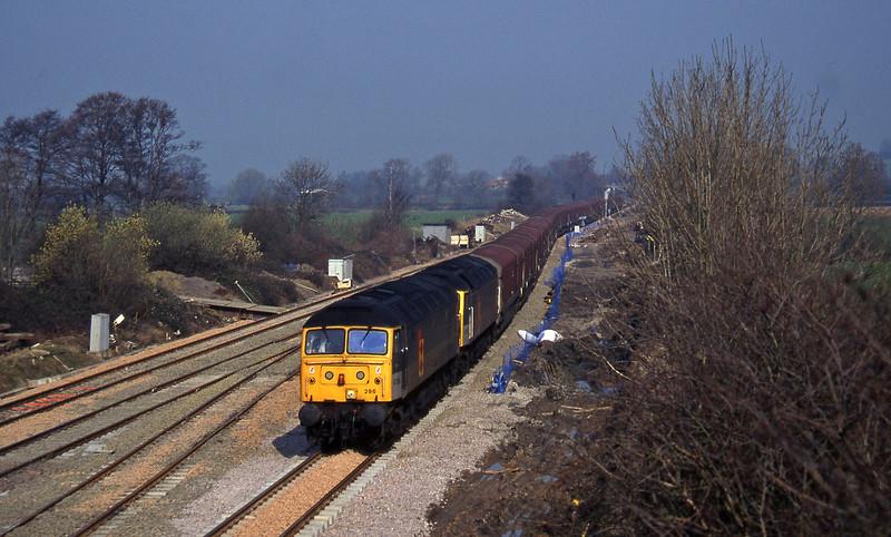 47286/47285, 10.35 Longbridge-Swindon, Standish Junction, near Stroud, 11-3-97.