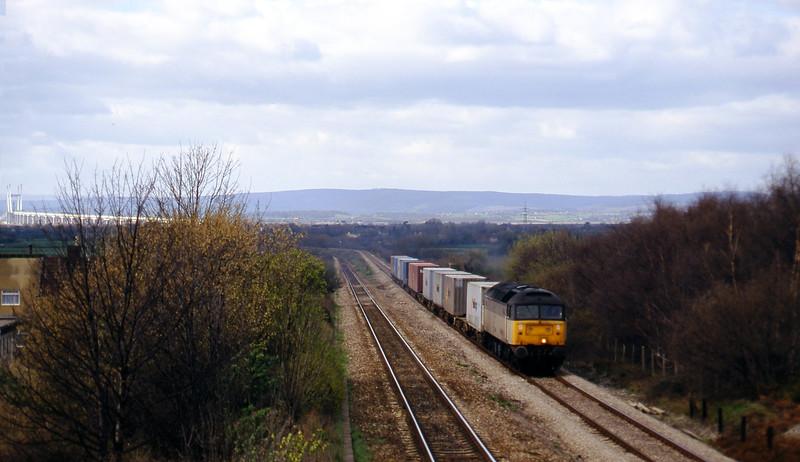 47225, up Freightliner, Cattybrook, Bristol, 19-3-97.