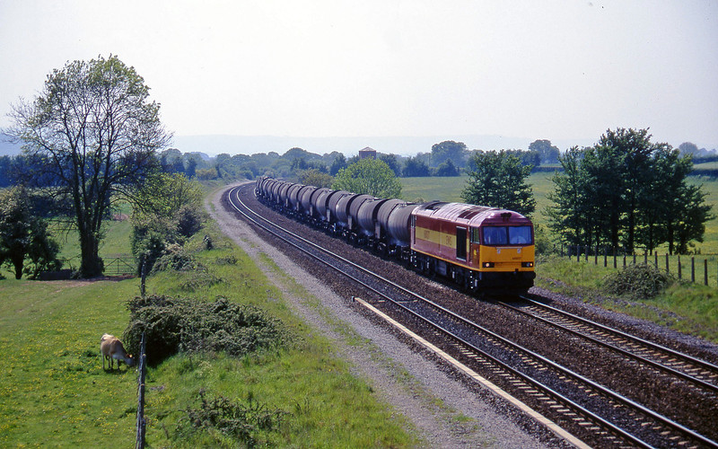 60037, 09.40 Burngullow-Newport Alexandra Dock Junction Yard, Cogload, 15-5-97.