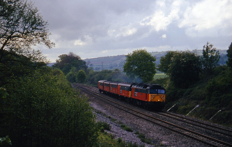 47741, 13.53 Plymouth-Bristol, Whiteball, 19-5-97.