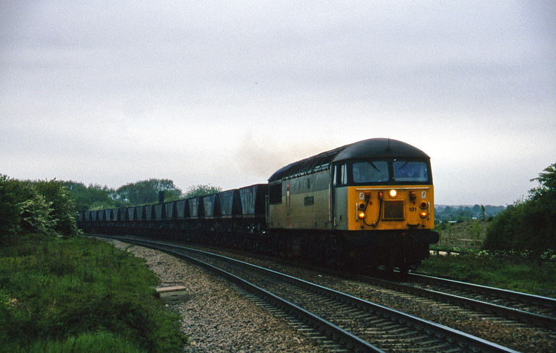 56101, down mgr empties to Gascoigne Wood, Gascoigne Wood Junction, Monk Fryston, near Knottingly, 16-5-97.