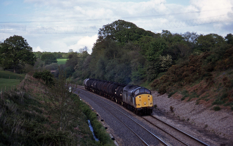 37711, 13.34 Fawley-Plymouth Tavistock Junction Yard, Whiteball, 19-5-97.