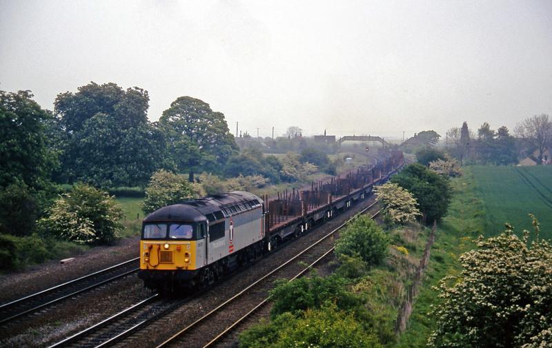 56127, up steel empties, Melton Ross, near Barnetby, 16-5-97.