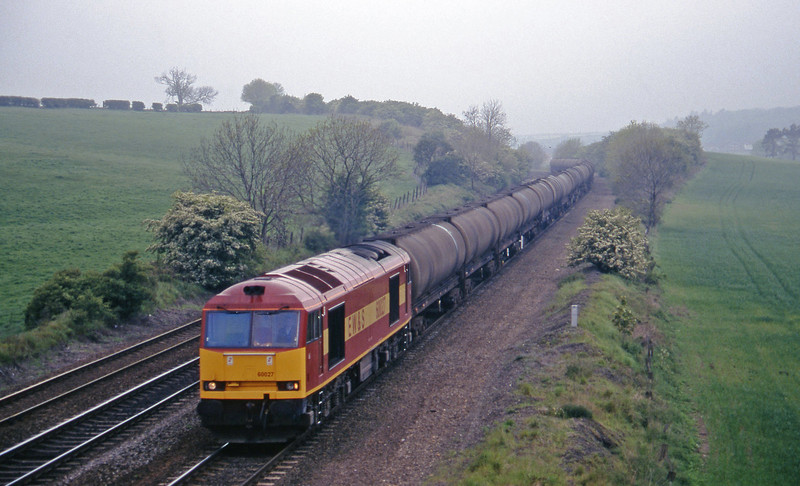 60027, down tanks, Melton Ross, near Barnetby, 16-5-97.
