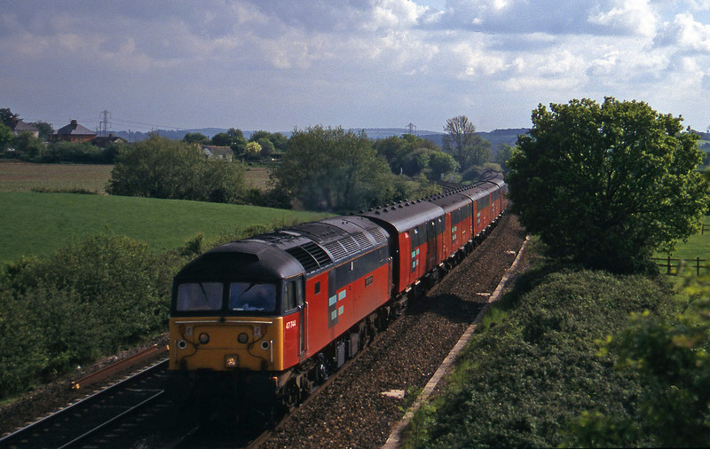 47744, 15.09 Plymouth-Low Fell, Willand, near Tiverton, 21-5-97.