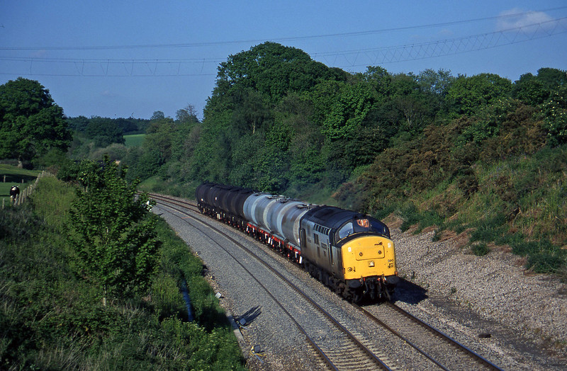 37890, 13.34 Fawley-Plymouth Tavistock Junction Yard, Whiteball, 27-5-97.