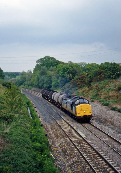 37890, 13.34 Fawley-Plymouth Tavistock Junction Yard, Whiteball, 23-5-97.
