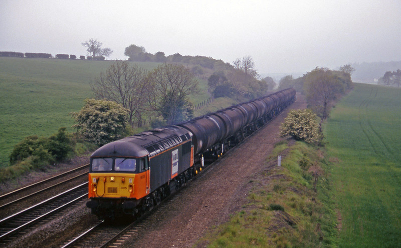 56035 down tanks, Melton Ross, near Barnetby, 16-5-97.