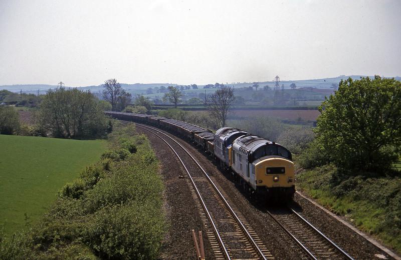 37244/37047, up ballast, Willand, near Tiverton, 15-5-97.