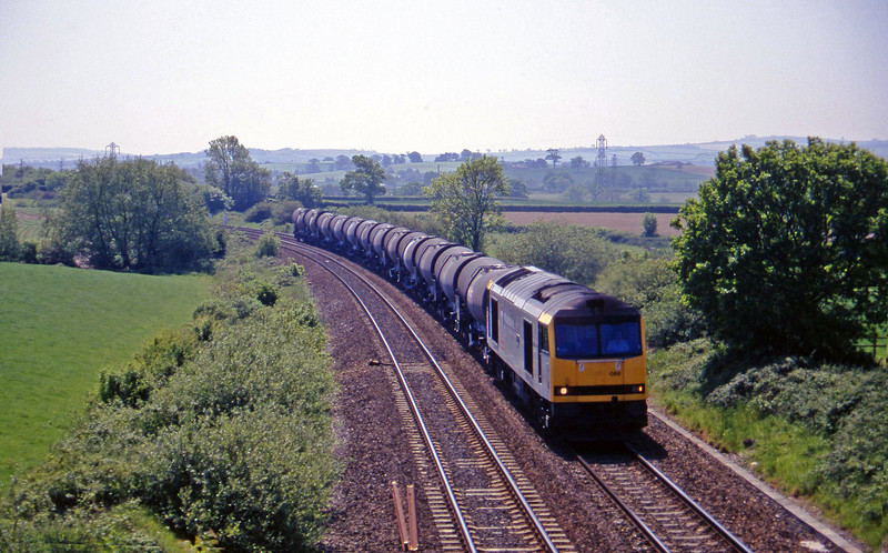 60089, 09.40 Burngullow-Newport Alexandra Dock Junction, Willand, near Tiverton, 29-5-97.