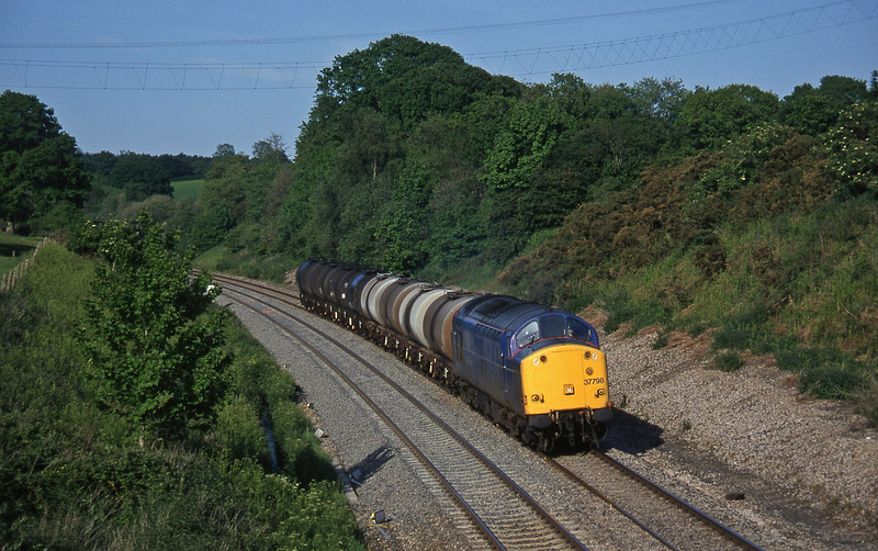 37798, 13.34 Fawley-Plymouth Tavistock Junction Yard, Whiteball, 30-5-97.