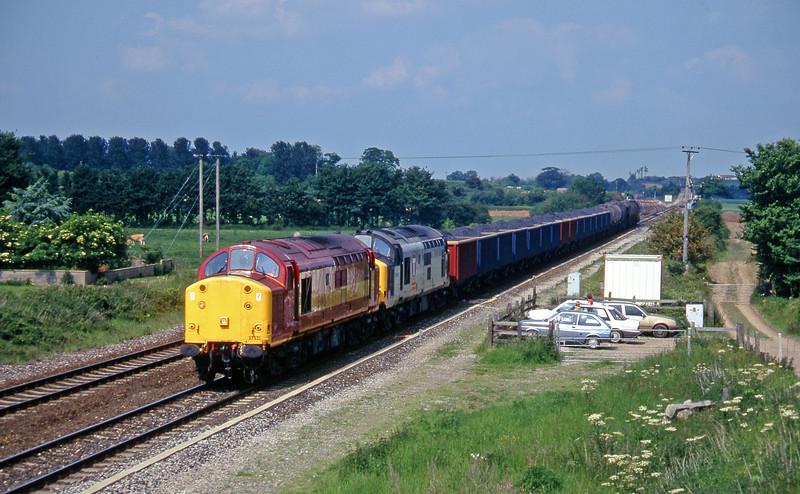 37521/37669, 13.45 Newport Alexandra Dock Junction-St Blazey, Cogload, 27-5-97.