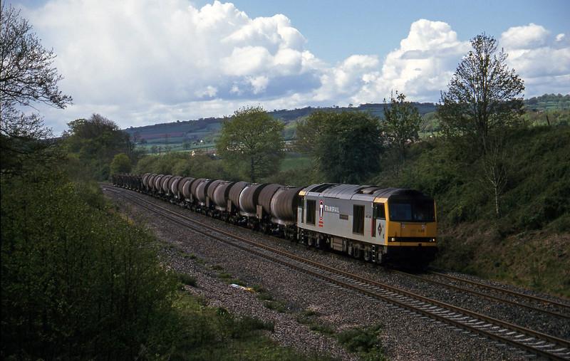60035, 09.40 Burngullow-Newport Alexandra Dock Junction Yard, Whiteball, 6-5-97.