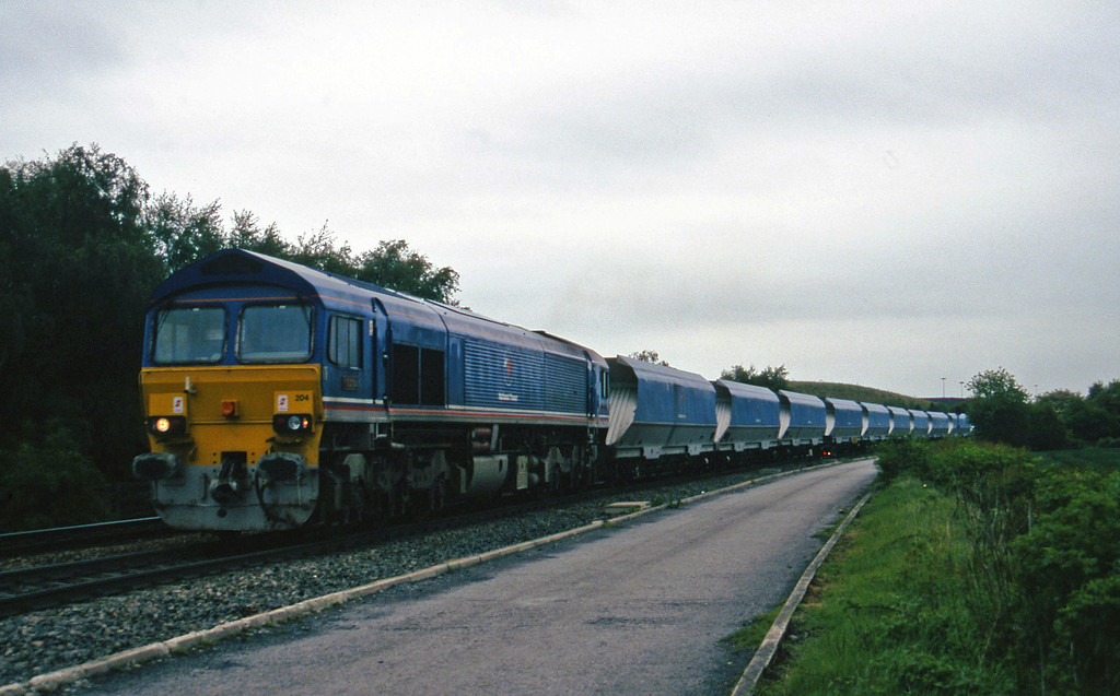 59204, up mgr from Gascoigne Wood, Gascoigne Wood Junction, Monk Fryston, near Knottingly, 16-5-97.