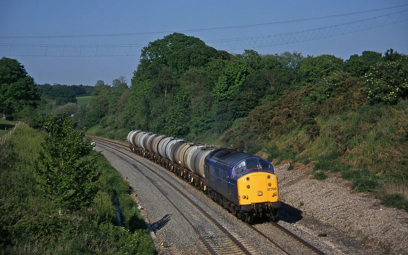 37798, 13.34 Fawley-Plymouth Tavistock Junction Yard, Whiteball, 28-5-97.