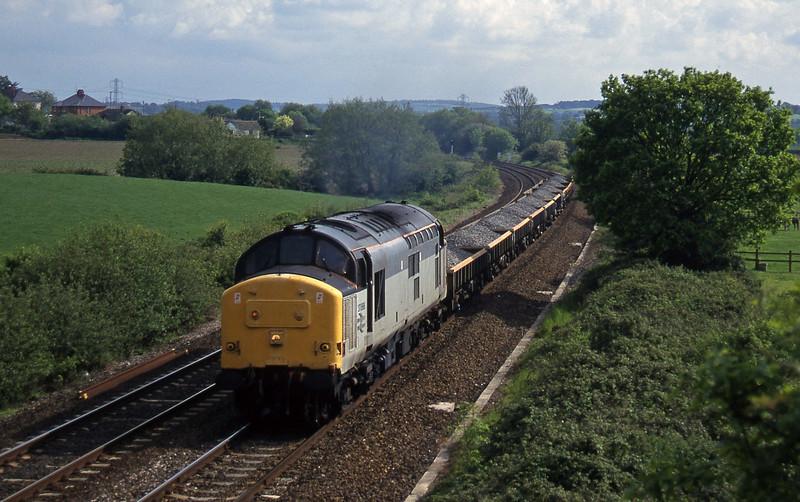 37888, 16.35 Exeter Riverside Yard-Newport Alexandra Dock Junction, Willand, near Tiverton, 21-5-97.