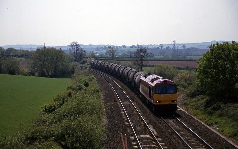 60037, 09.40 Burngullow-Newport Alexandra Dock Junction Yard, Willand, near Tiverton, 15-5-97.