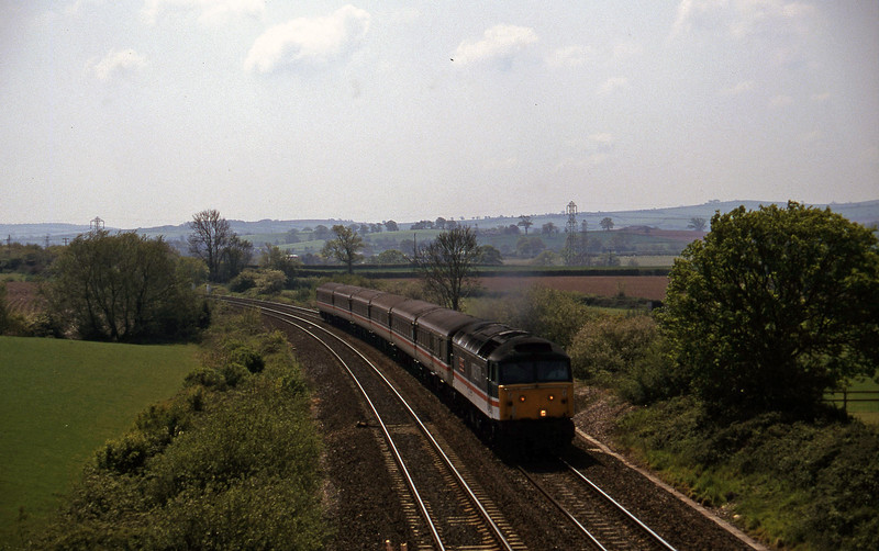 47841, 11.50 Plymouth-Liverpool Lime Street, Willand, near Tiverton, 15-5-97.