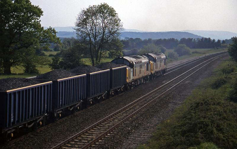 37672/37696, 13.45 Newport Alexandra Dock Junction-St Blazey, Cogload, 15-5-97.