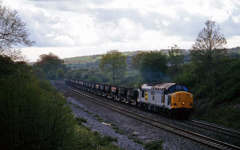 37894, 16.15 Exeter Riverside Yard-Newport Alexandra Dock Junction Yard, Whiteball, 7-5-97.