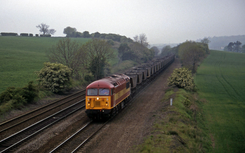 56120, Sconthorpe-Immingham mgr empties, Melton Ross, near Barnetby, 16-5-97.