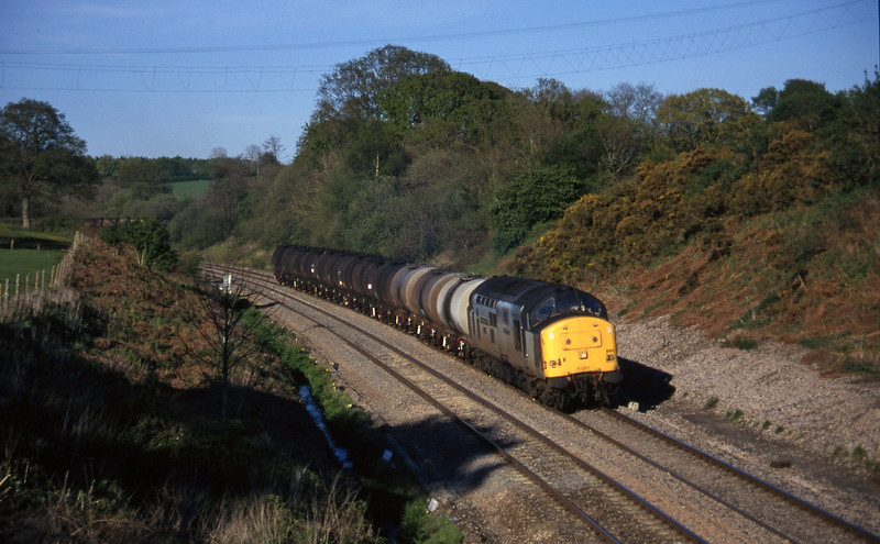 37890, 13.34 Fawley-Plymouth Tavistock Junction Yard, Whiteball, 2-5-97.