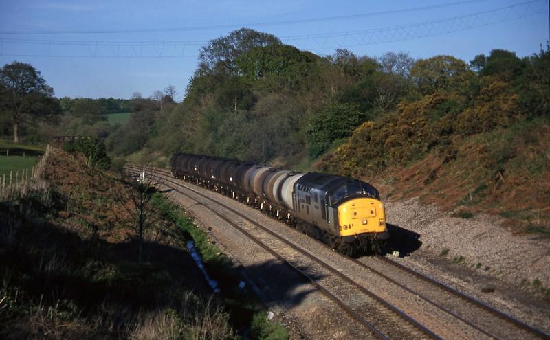 37890, 13.34 Fawley-Plymouth Tavistock Junction Yard, Whiteball, 2-5-97.