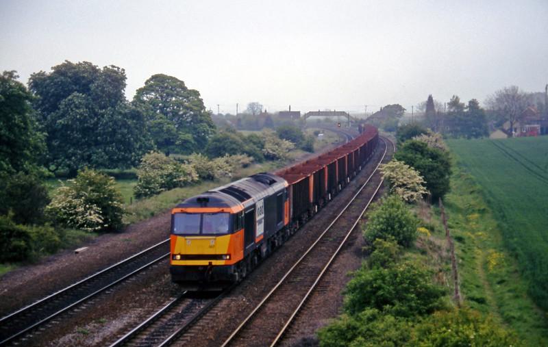 60007, 13.04 Immingham-Santon Melton Ross, near Barnetby, 16-5-97.