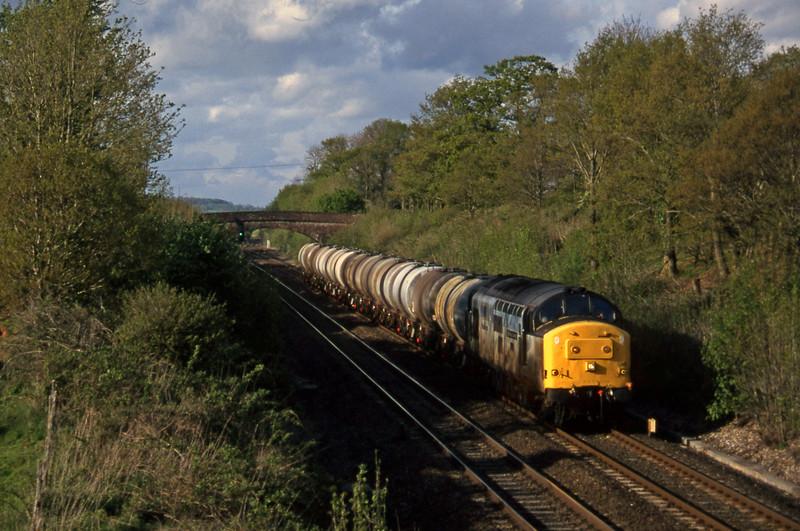 37890, 13.34 Fawley-Plymouth Tavistock Junction Yard, Willand, near Tiverton, 7-5-97.