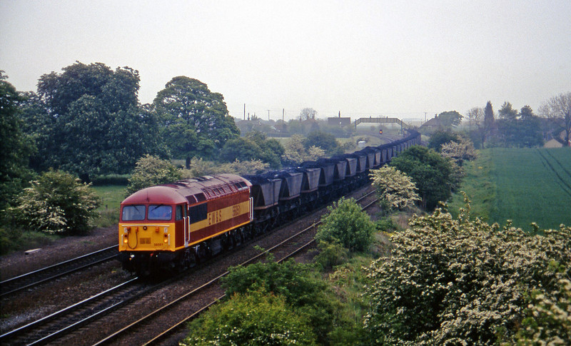 56051, 13.39 Immingham-Scunthorpe, Melton Ross, near Barnetby, 16-5-97.