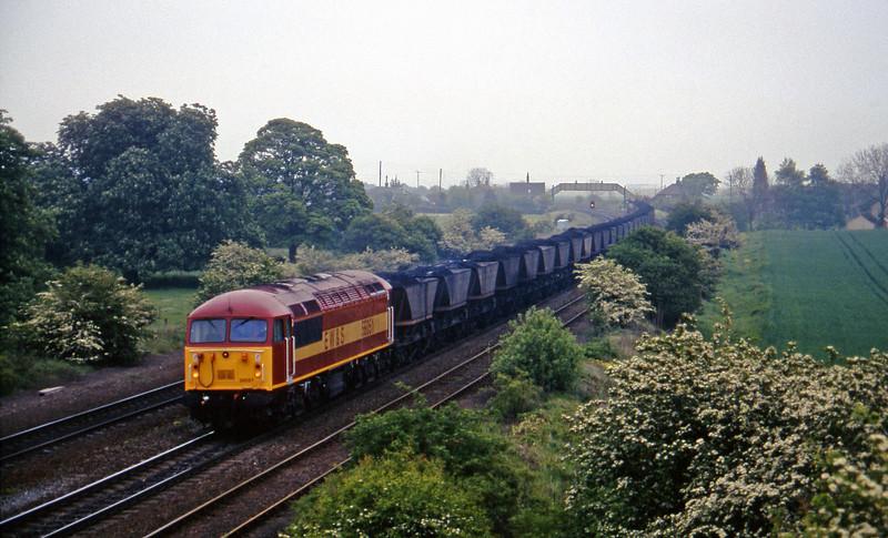 56051, 13.39 Immingham-Scunthorpe, Melton Ross, near Barnetby, 16-5-97.