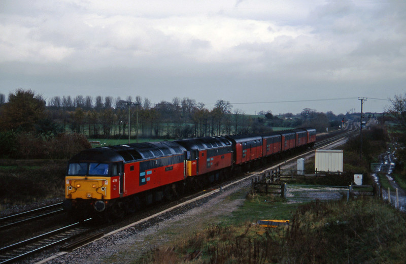 47749/47770, 12.15 Bristol Temple Meads-Plymouth, Cogload, 18-11-97.