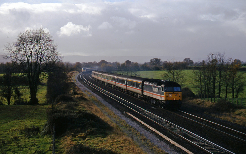 47839, 10.44 Plymouth-Manchester Piccadilly (late), Cogload, 18-11-97. 43139/43186, 10.45 London Paddington-Penzance.
