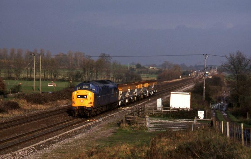 37372, down ballast empties, Cogload, 25-11-97.