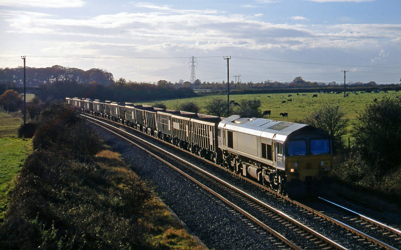 59101, Exeter Riverside Yard-Merehead Quarry, Berkley Marsh, near Frome, 11-11-97.