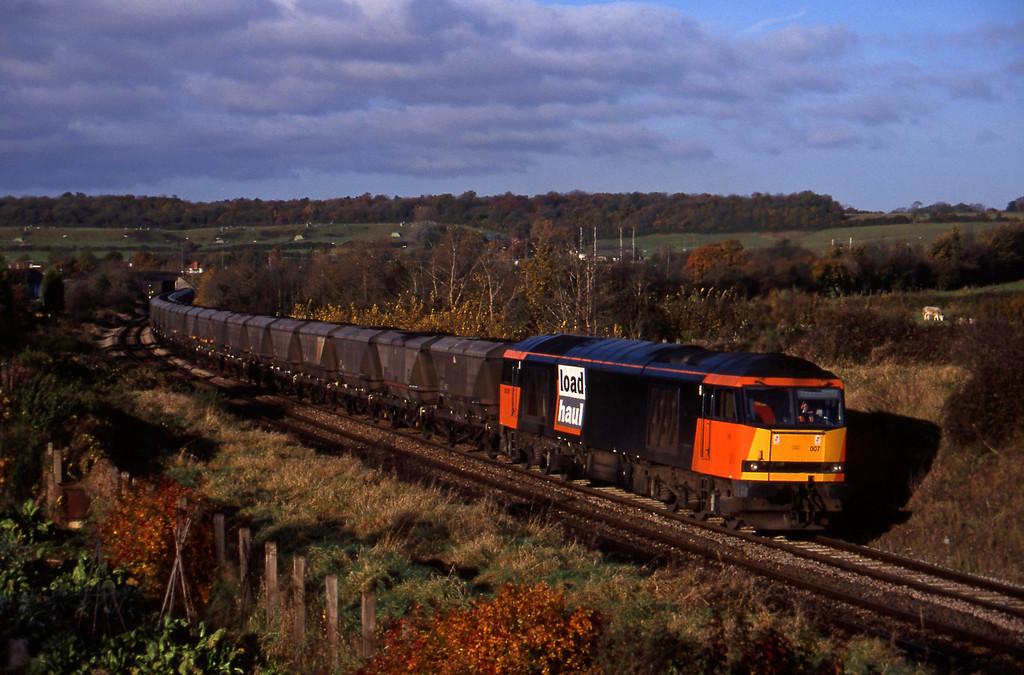 60007, 09.03 Avonmouth Bulk Handling Terminal-Didcot Power Station, Brentry, Bristol, 11-11-97.