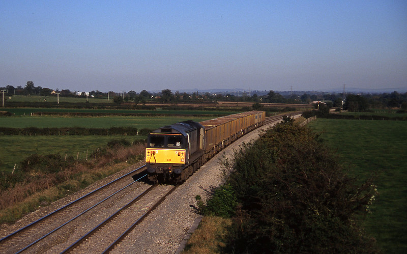 58043, down stone empties, Berkley Marsh, near Frome, 21-10-97.