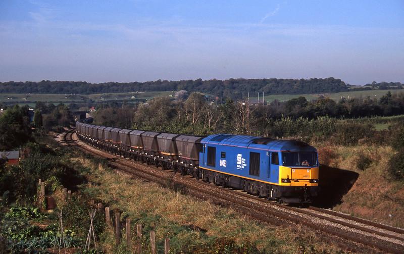 60033, 09.03 Avonmouth Bulk Handling Terminal-Didcot Power Station, Brentry, Bristol, 29-10-97.